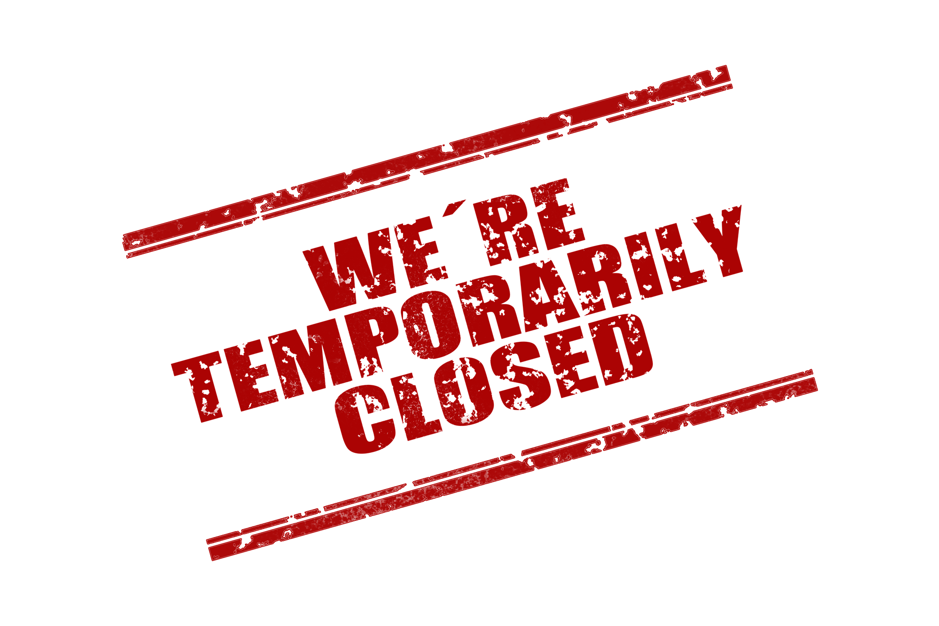 Stamp We are temprorarily closed. Image by Gerd Altmann from Pixabay